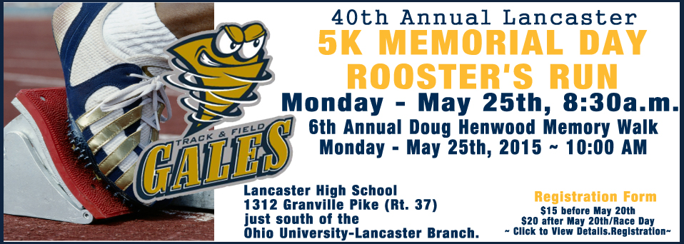 5K Memorial Day Rooster's Run - Lancaster Gales