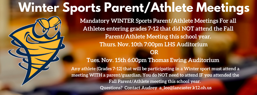 Winter Sports Parent/Athlete Meetings